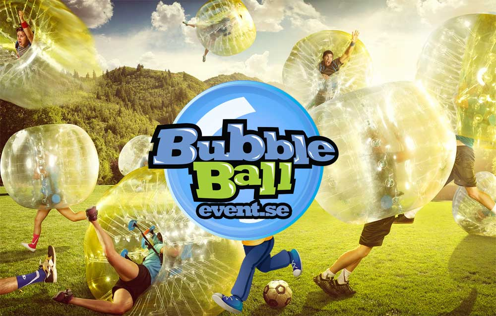 Bubble football inomhus